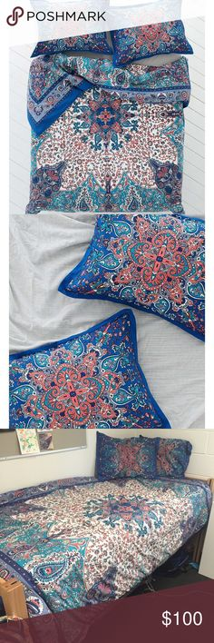 Urban Outfitters Plum & Bow Dandeli Bedding Includes: 2 pillow shames, duvet cover, duvet insert Size: Twin XL -- Gently used, from a smoke free home, freshly washed Urban Outfitters Other