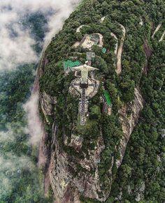 ❝ #FOTO - Vista aérea del Cristo Redentor, en Brasil ❞ ↪ Puedes leerlo en: www.divulgaciondmax.com