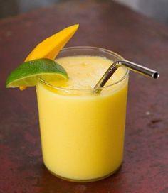 Mango Colada Smoothie - (This One Has Alcohol) - (17 Mango Smoothie Recipes)  #mango #smoothie