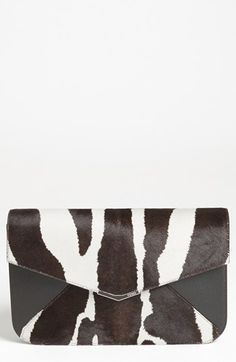 Fendi '2Jours - Large' Calf Hair & Leather Clutch available at #Nordstrom