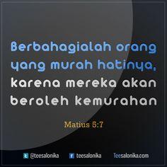 """Berbahagialah orang yang murah hatinya, karena mereka akan beroleh kemurahan"" (Matius 5 : 7) #alkitab #yesus"