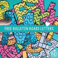 FREE! Printable bulletin board letters for your classroom displays. | #FromThePond #ClassroomDecor #BackToSchool #SchoolSupplies #BulletinBoard #TeacherTips