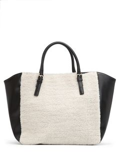 MANGO - TOUCH - Shearling shopper bag