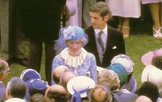 June Lady Diana Spencer at the Trooping the Colour ceremony. Lady Diana Spencer at BP Garden Party Princess Diana Wedding, Princess Charlotte, Princess Of Wales, Lady Diana Spencer, Buckingham Palace Garden Party, Family Photo Album, Royal Engagement, Engagement Ring, Diane