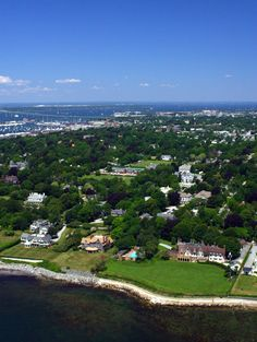 Aerial of Newport, Rhode Island photo by Chris Hunter