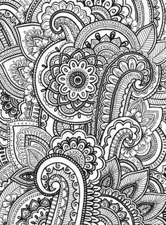 Paisley Art Print by Emma Lin | Society6  -  www.wheresthecolour.com