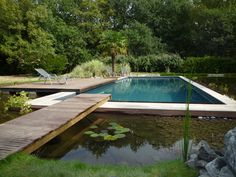 Piscine bi-eaux. Une solution parfaite Outdoor Life, Outdoor Living, Outdoor Decor, Big Garden, Home And Garden, Swiming Pool, Natural Pond, Dream Pools, Outside Living