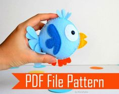 diy stuffed animals | Sewing Pattern Pack : 3 plush toy Pack - Cute Bunny - Modern Bird ...