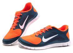 reputable site 13220 ac469 Nike Free 4.0 V3 Mens Darkblue Orange 2013 Hot Sale  Orange  Womens   Sneakers