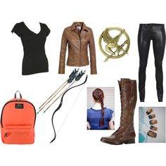 """Hunger Games Katniss Costume"" by thehungergamesclique on Polyvore"