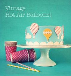 Painted By Cakes: KUUMAILMAPALLOKAKKU - HOT AIR BALLOON CAKE