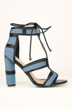46 Best denim heels images | Denim heels, Heels, Womens high