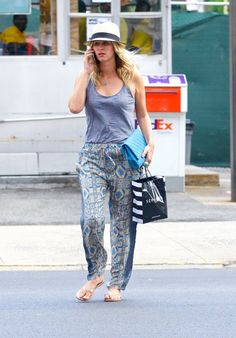 """Nicky Hilton stylishly strikes again in Tolani Collection's """"Charlotte Pants"""" in Marine while out and about in the Soho district!!"""