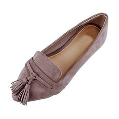 Guilty Heart Womens Tassel Slip On Suede Comfort Loafer Oxford Casual Flats Flats Grey Suede 7 BM US >>> Check out this great product. (This is an affiliate link and I receive a commission for the sales) Heeled Loafers, Loafer Flats, Espadrilles, Women's Loafers, Women Oxford Shoes, Loafers For Women, Shoes Women, Loafers Outfit, J Shoes