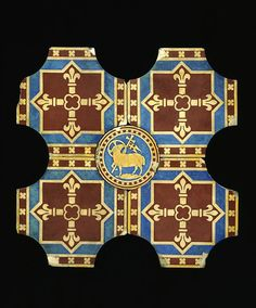 Tile designed by A.W.N. Pugin, 1845-1846, from St. George's Roman Catholic Cathedral, Southwark, London