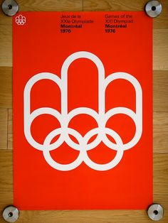 Designed by Georges Huel and Pierre-Yves Pelletier for the 1976 Montreal Olympics.Montreal Expo in the BeaudoinLudvig Bruneau RossowKirill Ermoshin Graphic Design Typography, Graphic Design Illustration, Logo Design, Modern Typography, 1976 Olympics, Summer Olympics, Mexico 68, Olympic Logo, Of Montreal