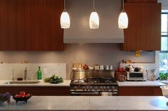 Sleek wood cabinets in this contemporary kitchen. From 1 of 14 projects by PorterFanna architects. Contemporary Kitchen Cabinets, Kitchen Cabinet Design, Wood Cabinets, Future House, Home Goods, Architecture, Dream Homes, Modern, Furniture
