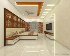 Master Bedroom Design: 3 on Behance Drawing Room Ceiling Design, Pvc Ceiling Design, Simple False Ceiling Design, Interior Ceiling Design, Ceiling Design Living Room, Living Room Partition Design, Bedroom False Ceiling Design, Home Ceiling, Bedroom Pop Design