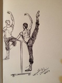 the Ballet Barre... (sketch, by MGV)