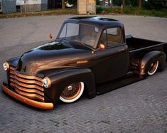 trucks chevy old Jeep Pickup Truck, 54 Chevy Truck, Hot Rod Pickup, Classic Pickup Trucks, Pickup Camper, Bagged Trucks, Hot Rod Trucks, Cool Trucks, Big Trucks