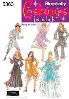 Diy Sewing Pattern-Simplicity 5363 -Fairy, Fortune Teller,Pirate Outfit Plus Size. $6.00, via Etsy.