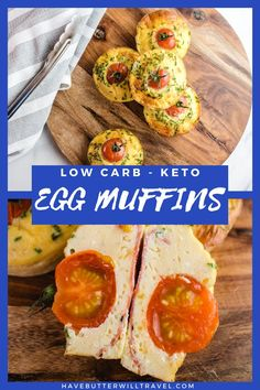 Keto egg muffins are a perfect keto breakfast option. Great for an on the go lunch or breakfast and a perfect addition to the kid's keto lunchbox. Keto Egg Muffins, Lunch To Go, Quick And Easy Breakfast, No Sugar Foods, Breakfast Options, Savoury Dishes, Low Carb Keto, Keto Recipes, Meal Prep