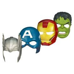 Avenger mask collection--- would make for a nice display on his wall.