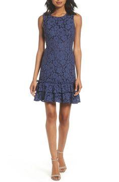 5b4e19043c Eliza J Ruffle Lace Sheath Dress
