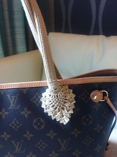 62188778b392 Crochet Handle Cover for Louis Vuitton-Neverfull PM by MyMade21 Louis  Vuitton Neverfull Pm