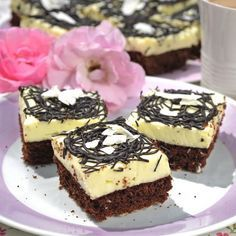 Sweet Desserts, Sweet Recipes, Baking Recipes, Dessert Recipes, Czech Recipes, Pavlova, Sweet Tooth, Cheesecake, Food And Drink