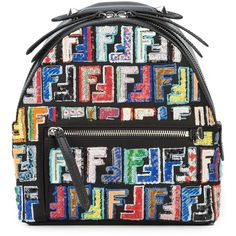 Fendi Zaino Mini Backpack ($2,750) ❤ liked on Polyvore featuring bags, backpacks, bags /, kirna zabete, mini leather backpack, sequin backpacks, leather rucksack, leather daypack and sequin backpack