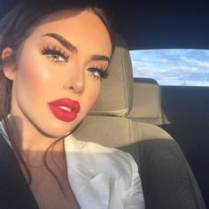 "12.4k Likes, 179 Comments - J E S S I E (@jessieann_g) on Instagram: ""Goodmorning lovers❤ ️Lashes @prettilittlelashes in style ""eye candy"" Lips Ruby woo liner & lipstick…"""