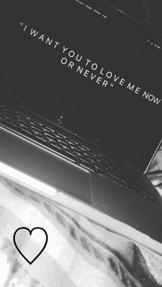 """I want you to love me now or never"" // Pinterest @iamjadeselena☽❁"