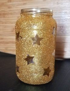 Twinkle Twinkle Little Star Party DIY Mason Jars ~ Cassie Smallwood - Twinkle Twinkle Little Star Baby Shower Or Gender Reveal Party Glitter Mason Jars - Star Wars Party, Star Party, Star Centerpieces, Baby Shower Centerpieces, Butterfly Centerpieces, Unicorn Centerpiece, Tropical Centerpieces, Sunflower Centerpieces, Greenery Centerpiece