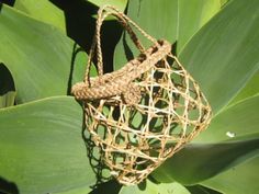 Flax Weaving - Kete - Kupenga knot, by AllFlax Flax Weaving, Weaving Art, Basket Weaving, Woven Baskets, New Zealand Flax, Flax Flowers, Types Of Textiles, Maori Designs, Basket Crafts