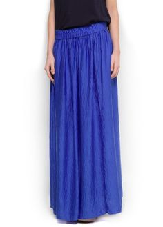 Mango Women`s Satin Long Skirt $44.99