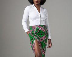 African print pencil skirt, ankara skirt, African Print Skirt, Wax print skirt, Ankara pencil Skirt, Ankara African (VALENCIA fitted skirt)