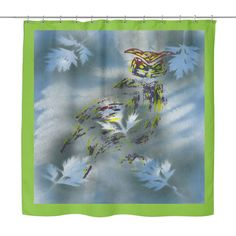 #3 Great Horned Owl Shower Curtain