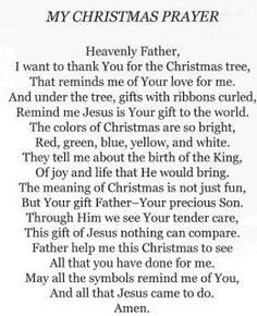 Christmas prayer, gets me into the Christmas spirit! Christmas Verses, Christmas Prayer, Christmas Program, Christmas Messages, A Christmas Story, Christmas Holidays, Christmas Crafts, Family Christmas, Christmas Devotions
