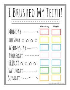 Toothbrushing Chart