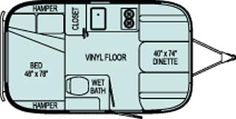 Airstream Bambi small travel trailer review - Roaming Times. It has everything you need.