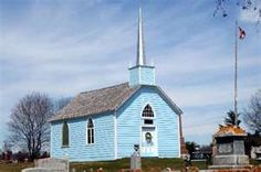 Little Blue Church Highway 2 and County Road Prescott, Ontario, Kanada Church Pictures, Home Temple, Anglican Church, Cathedral Church, World Pictures, Burj Khalifa, Kirchen, Ontario, Canada