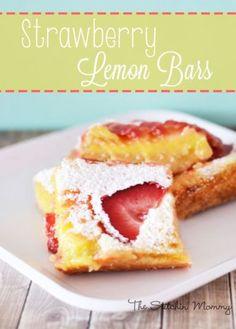 Strawberry Lemon Bars - The Stitchin' Mommy