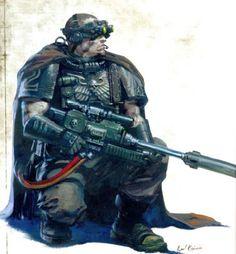 Image result for scout sniper 40k storm trooper