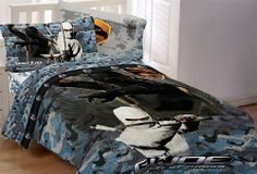 G.I. Joe Ninja Twin Comforter by G.I. Joe. $37.99. Measures 64-by-86-inch. Imported. Comforter features snake eyes and storm shadow. 55-percent cotton, 45-percent polyester, machine wash and dry. Coordinates with the sheet sets. Poly/cotton comforter