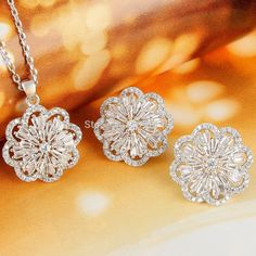 2015 New Spring BELLA Fashion Classic Copper Plated Flower Necklace Earrings Set Austrian Crystal Lady Jewelry Sets-in Jewelry Sets from Jewelry on Aliexpress.com | Alibaba Group