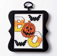 Start off the Halloween season with quick and easy free Halloween cross stitch pattern!