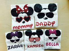 Disney Family Shirts  Looking for the perfect Disney Family Shirts for your next Disney Trip? Then this set is perfect for you and your family. Please note listing is for one individual shirt. Starting price is $15 for kids size. All items printed on 100% cotton shirts and all designs made with high quality heat transfer vinyls.  *~COPYRIGHT NOTICE~* Please note that as the customer you are only paying for my creative services and supplies. I do not claim ownership for any characters being…