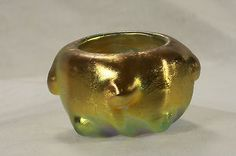 Antique Tiffany Studios Favrile Gold Iridescent Salt Cellar C1910 | eBay