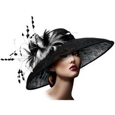 Kentucky Derby Hat Fascinator M25 Black and White - Polyvore